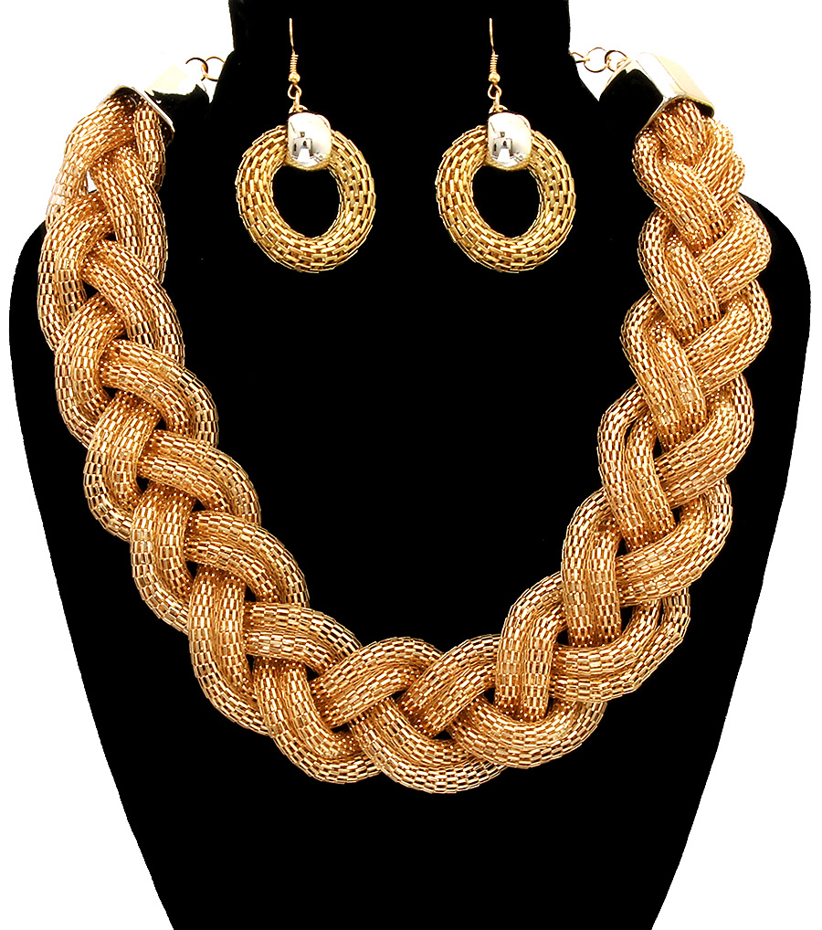 1d79b5c52b6 Gold Necklace Set